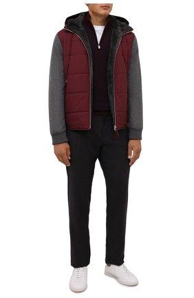 Мужская утепленная куртка ANDREA CAMPAGNA бордового цвета, арт. 00801H9RE2900 | Фото 2