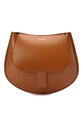 Женская сумка crescent JIL SANDER коричневого цвета, арт. JSPT853402-WTB69159N | Фото 1 (Материал: Натуральная кожа; Размер: small, medium; Сумки-технические: Сумки через плечо)