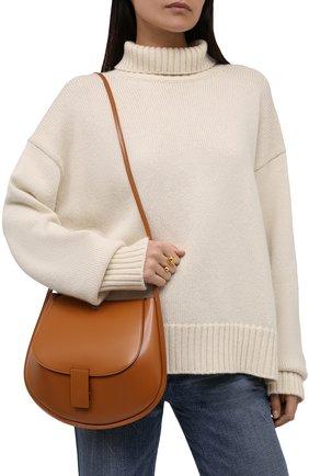 Женская сумка crescent JIL SANDER коричневого цвета, арт. JSPT853402-WTB69159N | Фото 2 (Материал: Натуральная кожа; Размер: small, medium; Сумки-технические: Сумки через плечо)