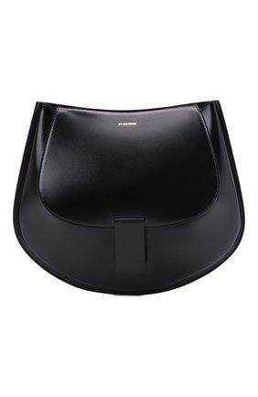 Женская сумка crescent small JIL SANDER черного цвета, арт. JSPT853402-WTB69158N   Фото 1 (Материал: Натуральная кожа; Размер: small; Сумки-технические: Сумки через плечо)