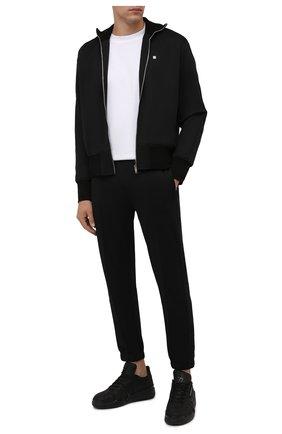 Мужские кожаные кеды talon GIUSEPPE ZANOTTI DESIGN черного цвета, арт. RM10005/009 | Фото 2 (Материал внутренний: Натуральная кожа, Текстиль; Подошва: Массивная; Стили: Гранж)