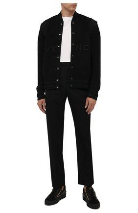 Мужские комбинированные кеды frankie GIUSEPPE ZANOTTI DESIGN черного цвета, арт. RU10057/001 | Фото 2 (Подошва: Массивная; Материал внутренний: Натуральная кожа)