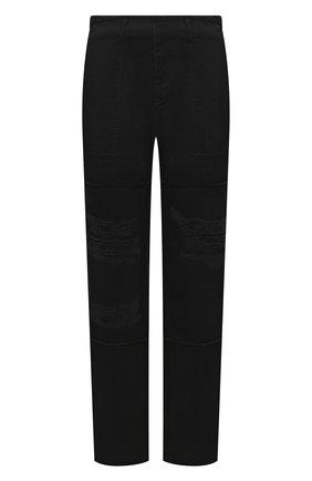 Мужские хлопковые брюки MARCELO BURLON черного цвета, арт. CMCA174F21FAB001 | Фото 1 (Длина (брюки, джинсы): Стандартные; Материал внешний: Хлопок; Случай: Повседневный; Стили: Кэжуэл)