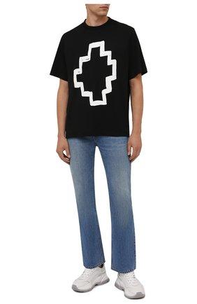 Мужская хлопковая футболка MARCELO BURLON черного цвета, арт. CMAA054F21JER005 | Фото 2 (Материал внешний: Хлопок; Рукава: Короткие; Длина (для топов): Стандартные; Принт: С принтом; Стили: Кэжуэл)