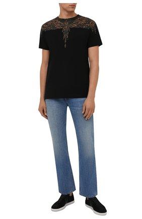 Мужская хлопковая футболка MARCELO BURLON черного цвета, арт. CMAA018F21JER002 | Фото 2 (Материал внешний: Хлопок; Принт: С принтом; Стили: Кэжуэл; Рукава: Короткие; Длина (для топов): Стандартные)