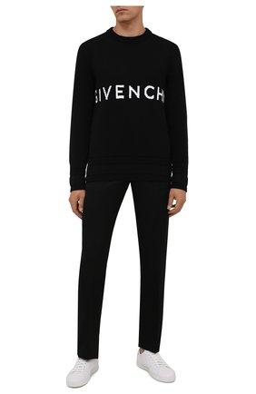 Мужской хлопковый свитер GIVENCHY черного цвета, арт. BM90G9401M | Фото 2