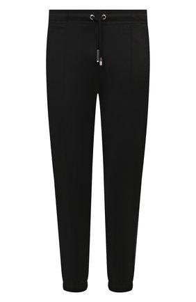 Мужские джоггеры GIVENCHY черного цвета, арт. BM50VU30AE | Фото 1 (Материал внешний: Синтетический материал, Хлопок; Длина (брюки, джинсы): Стандартные; Силуэт М (брюки): Джоггеры; Стили: Спорт-шик)