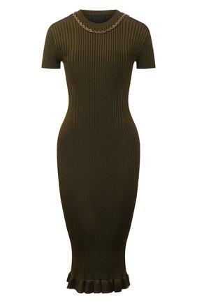 Женское платье из вискозы GIVENCHY хаки цвета, арт. BW216G4Z9V   Фото 1