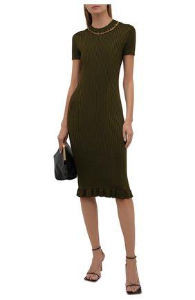 Женское платье из вискозы GIVENCHY хаки цвета, арт. BW216G4Z9V   Фото 2