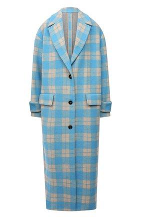 Женское пальто MSGM голубого цвета, арт. 3141MDC19A 217612 | Фото 1