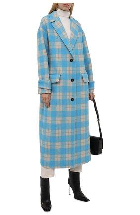 Женское пальто MSGM голубого цвета, арт. 3141MDC19A 217612 | Фото 2