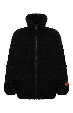 Мужская утепленная куртка HERON PRESTON черного цвета, арт. HMEA067F21FAB0011000 | Фото 1 (Длина (верхняя одежда): До середины бедра; Материал внешний: Синтетический материал, Шерсть; Материал подклада: Синтетический материал; Рукава: Длинные; Кросс-КТ: Куртка; Мужское Кросс-КТ: утепленные куртки; Стили: Гранж)