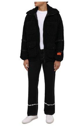 Мужская утепленная куртка HERON PRESTON черного цвета, арт. HMEA067F21FAB0011000 | Фото 2 (Длина (верхняя одежда): До середины бедра; Материал внешний: Синтетический материал, Шерсть; Материал подклада: Синтетический материал; Рукава: Длинные; Кросс-КТ: Куртка; Мужское Кросс-КТ: утепленные куртки; Стили: Гранж)