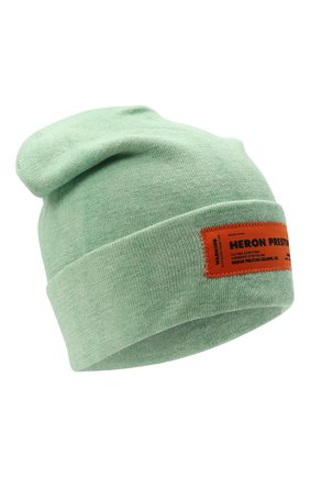 Мужская шапка HERON PRESTON светло-зеленого цвета, арт. HMLC004F21KNI0025500   Фото 1