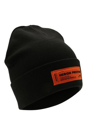 Мужская шапка HERON PRESTON черного цвета, арт. HMLC004F21KNI0011000 | Фото 1
