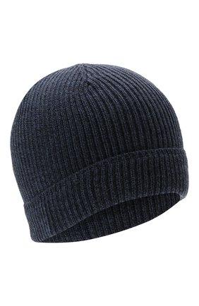 Мужская шерстяная шапка CANALI синего цвета, арт. B0018/MK00461   Фото 1 (Материал: Шерсть; Кросс-КТ: Трикотаж)