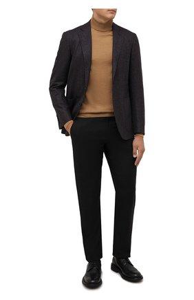 Мужской шерстяной пиджак CANALI темно-коричневого цвета, арт. 13275/CU03430/112 | Фото 2 (Материал внешний: Шерсть; Рукава: Длинные; Длина (для топов): Стандартные; Материал подклада: Купро; Случай: Коктейльный; Пиджаки М: Приталенный; 1-2-бортные: Однобортные; Стили: Классический)