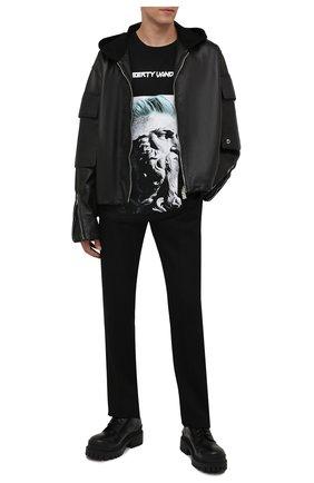 Мужская хлопковая футболка DIEGO VENTURINO черного цвета, арт. FW21-DV TS0 MDP03 | Фото 2