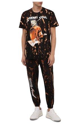 Мужская хлопковая футболка DIEGO VENTURINO разноцветного цвета, арт. FW21-DV TS0 HSP-TIEDYE | Фото 2