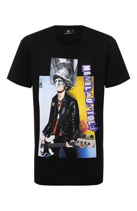 Мужская хлопковая футболка DIEGO VENTURINO черного цвета, арт. FW21-DV TS0 MSP   Фото 1