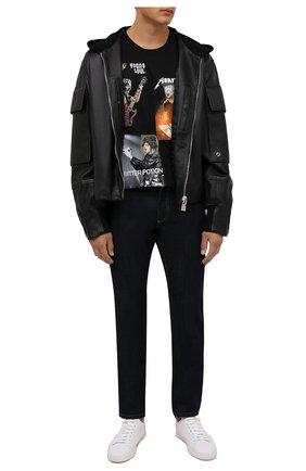 Мужская хлопковая футболка DIEGO VENTURINO черного цвета, арт. FW21-DV TS0 DVR   Фото 2