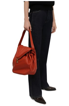 Женская сумка beak large BOTTEGA VENETA  цвета, арт. 666511/VCP40   Фото 2 (Материал: Натуральная кожа; Размер: large; Сумки-технические: Сумки top-handle)