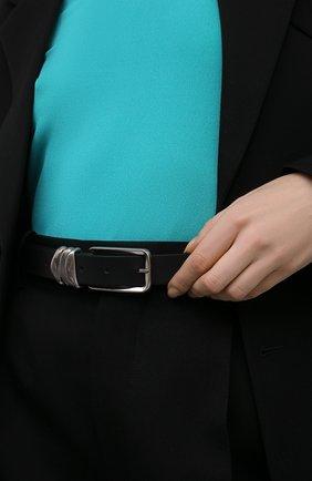 Женский кожаный ремень BOTTEGA VENETA черного цвета, арт. 666677/VMAU3 | Фото 2