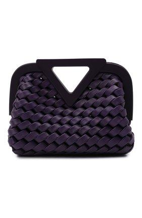 Женская сумка point small BOTTEGA VENETA фиолетового цвета, арт. 666860/V14N1 | Фото 1 (Размер: small; Материал: Натуральная кожа; Ремень/цепочка: На ремешке; Сумки-технические: Сумки top-handle; Женское Кросс-КТ: Вечерняя сумка)