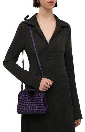 Женская сумка point small BOTTEGA VENETA фиолетового цвета, арт. 666860/V14N1 | Фото 2 (Размер: small; Материал: Натуральная кожа; Ремень/цепочка: На ремешке; Сумки-технические: Сумки top-handle; Женское Кросс-КТ: Вечерняя сумка)