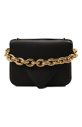 Женская сумка mount small BOTTEGA VENETA черного цвета, арт. 667399/V12M0 | Фото 1 (Материал: Натуральная кожа; Размер: small; Сумки-технические: Сумки через плечо; Ремень/цепочка: На ремешке)