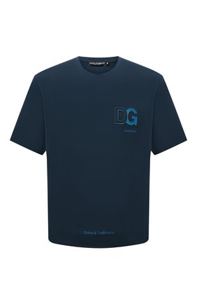 Мужская хлопковая футболка DOLCE & GABBANA темно-бирюзового цвета, арт. G8NB3Z/FU7EQ | Фото 1
