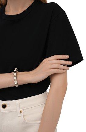 Женский кожаный браслет rockstud VALENTINO кремвого цвета, арт. WW2J0255/VIT   Фото 2