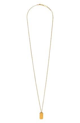Женская кулон на цепочке SAINT LAURENT золотого цвета, арт. 669635/Y1500 | Фото 1 (Материал: Металл)
