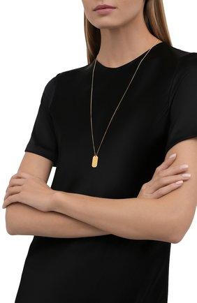 Женская кулон на цепочке SAINT LAURENT золотого цвета, арт. 669635/Y1500 | Фото 2 (Материал: Металл)
