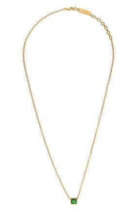 Женская кулон на цепочке SAINT LAURENT золотого цвета, арт. 669597/Y1402 | Фото 1 (Материал: Металл)