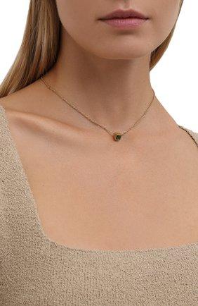 Женская кулон на цепочке SAINT LAURENT золотого цвета, арт. 669597/Y1402 | Фото 2 (Материал: Металл)