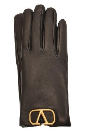 Женские кожаные перчатки VALENTINO черного цвета, арт. WW2GDA00/WJW | Фото 1