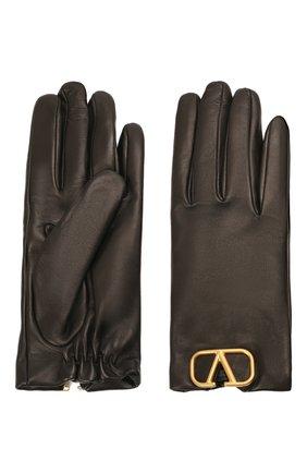 Женские кожаные перчатки VALENTINO черного цвета, арт. WW2GDA00/WJW | Фото 2