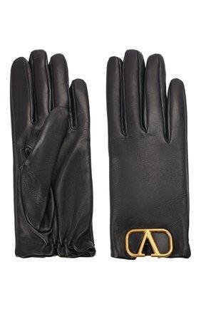 Женские кожаные перчатки VALENTINO темно-синего цвета, арт. WW2GDA00/WJW | Фото 2