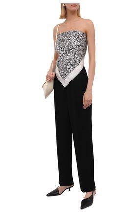 Женский шелковый платок VALENTINO черно-белого цвета, арт. WW0EI114/TAI | Фото 2