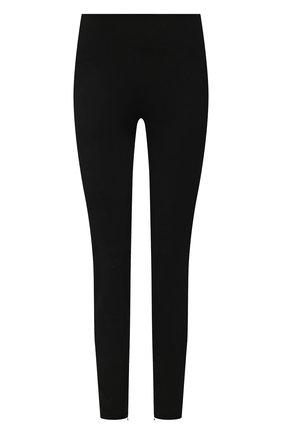 Женские замшевые брюки-скинни RALPH LAUREN черного цвета, арт. 290618851 | Фото 1 (Женское Кросс-КТ: Брюки-одежда; Длина (брюки, джинсы): Укороченные, Стандартные; Силуэт Ж (брюки и джинсы): Узкие; Стили: Кэжуэл; Материал внешний: Замша)