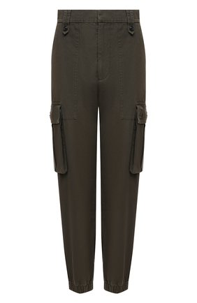 Женские хлопковые брюки ZADIG&VOLTAIRE хаки цвета, арт. WKCD0103F   Фото 1