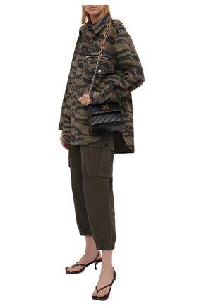 Женские хлопковые брюки ZADIG&VOLTAIRE хаки цвета, арт. WKCD0103F   Фото 2