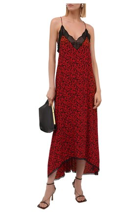 Женское платье из вискозы ZADIG&VOLTAIRE красного цвета, арт. WKCP0445F   Фото 2