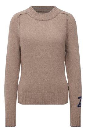 Женский кашемировый свитер ZADIG&VOLTAIRE бежевого цвета, арт. WKMM1105F   Фото 1