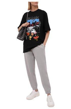 Женские хлопковые джоггеры ZADIG&VOLTAIRE серого цвета, арт. WKTS0102F   Фото 2
