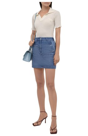 Женская джинсовая юбка KENZO темно-синего цвета, арт. FB62DJ2619FA | Фото 2
