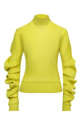Женская шелковая водолазка BOTTEGA VENETA желтого цвета, арт. 664118/V0ZF0   Фото 1 (Длина (для топов): Стандартные; Рукава: Длинные; Материал внешний: Шелк; Женское Кросс-КТ: Водолазка-одежда; Стили: Бохо)