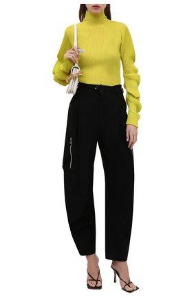 Женская шелковая водолазка BOTTEGA VENETA желтого цвета, арт. 664118/V0ZF0   Фото 2 (Длина (для топов): Стандартные; Рукава: Длинные; Материал внешний: Шелк; Женское Кросс-КТ: Водолазка-одежда; Стили: Бохо)