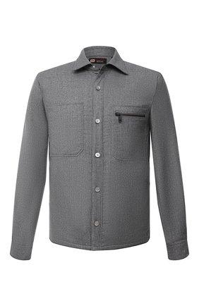 Мужская шерстяная рубашка Z ZEGNA серого цвета, арт. 205820/ZC0T8 | Фото 1